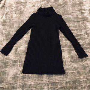 Long sleeve turtle neck sweater dress
